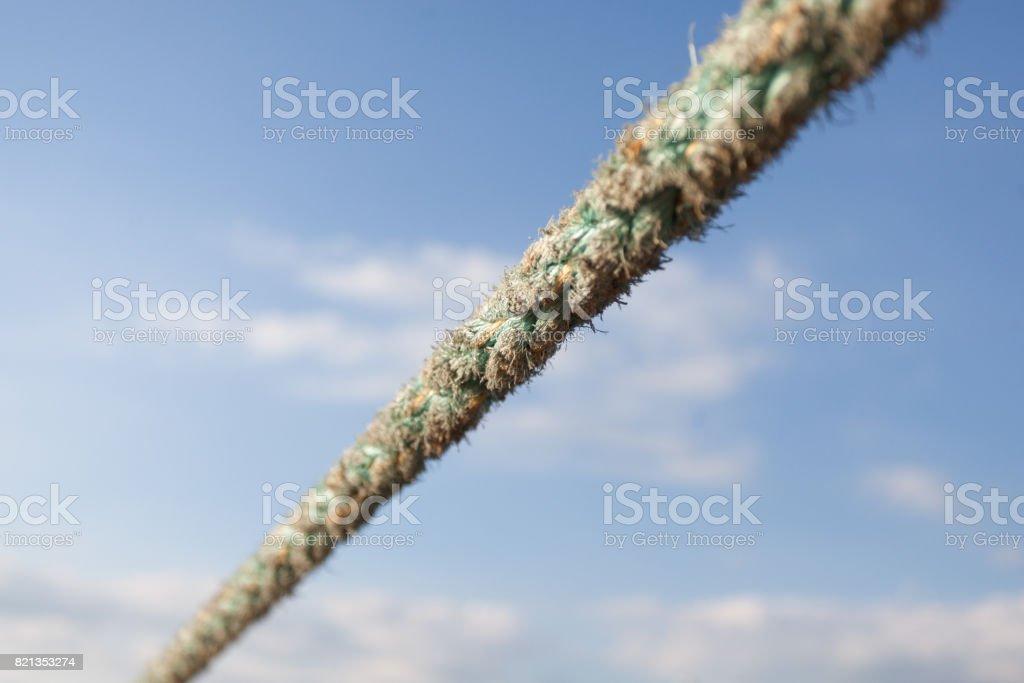 tight heavy duty rope stock photo