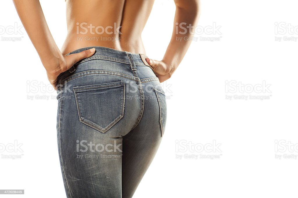 tight jeans stock photo