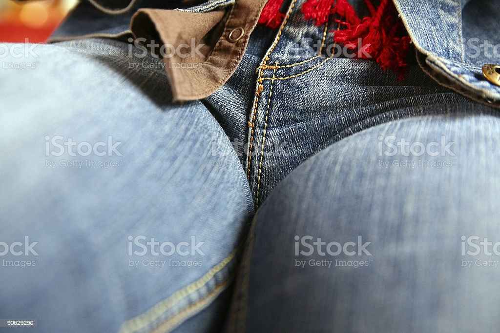 Tight jeans royalty-free stock photo
