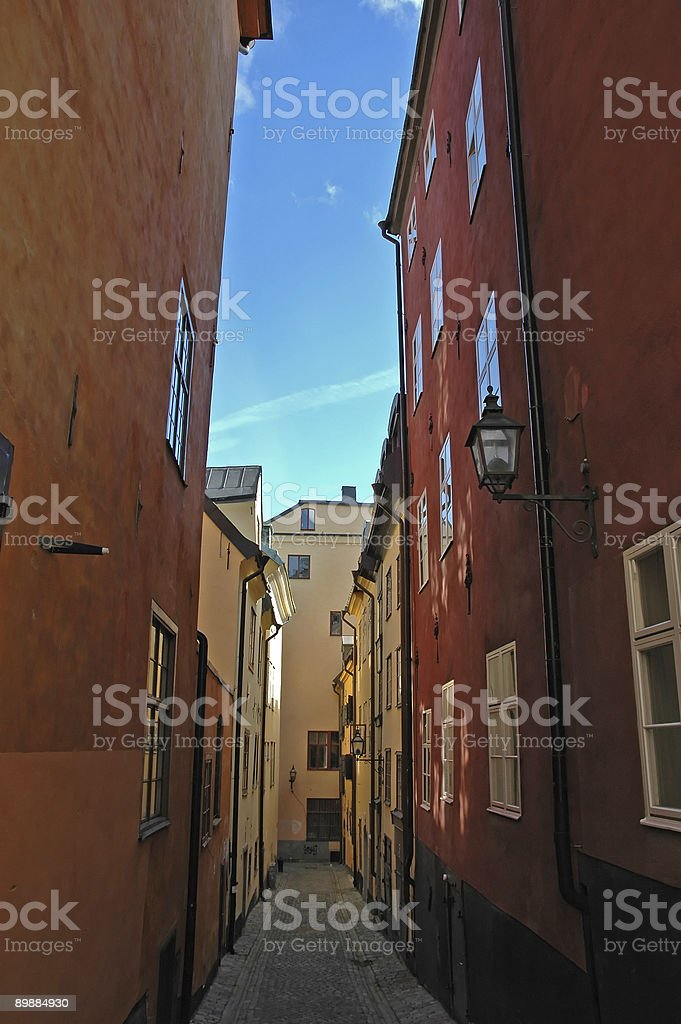 Tight Lane Stockholm stock photo