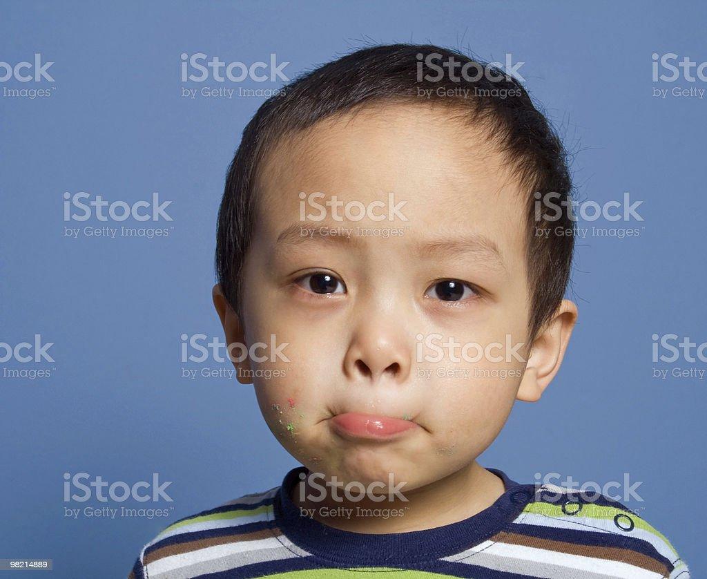 Tight Lipped Boy royalty-free stock photo
