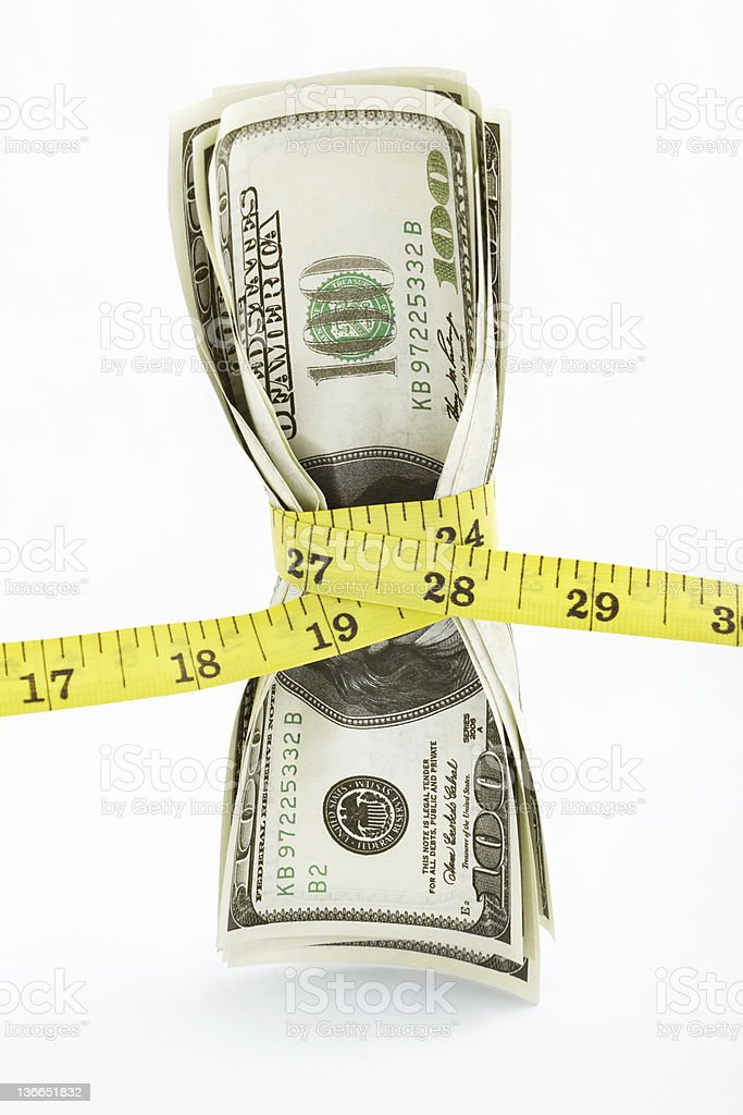 Tight monetary stock photo