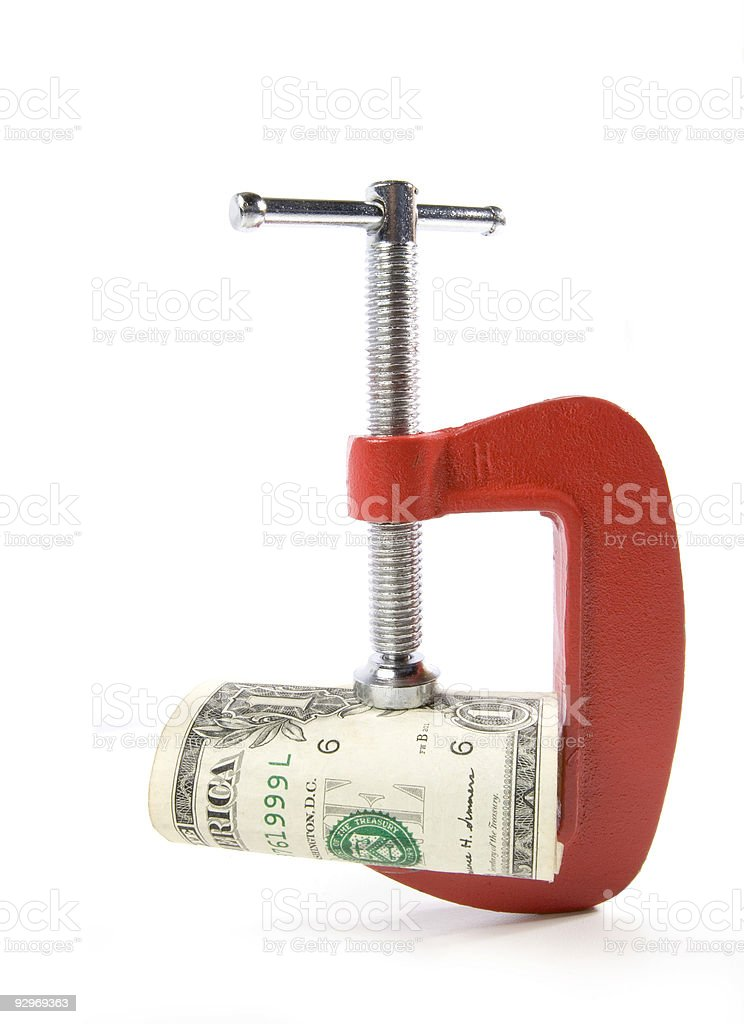 Tight Money royalty-free stock photo