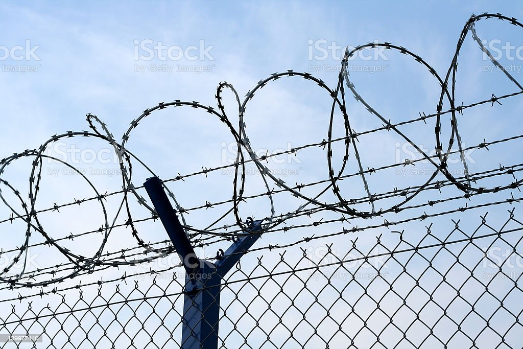 Tight security: no immigrants wanted stock photo
