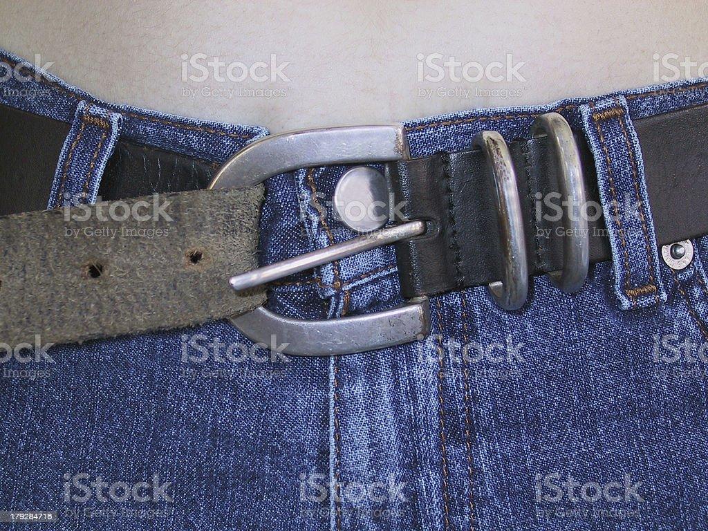 Tighten Belt royalty-free stock photo