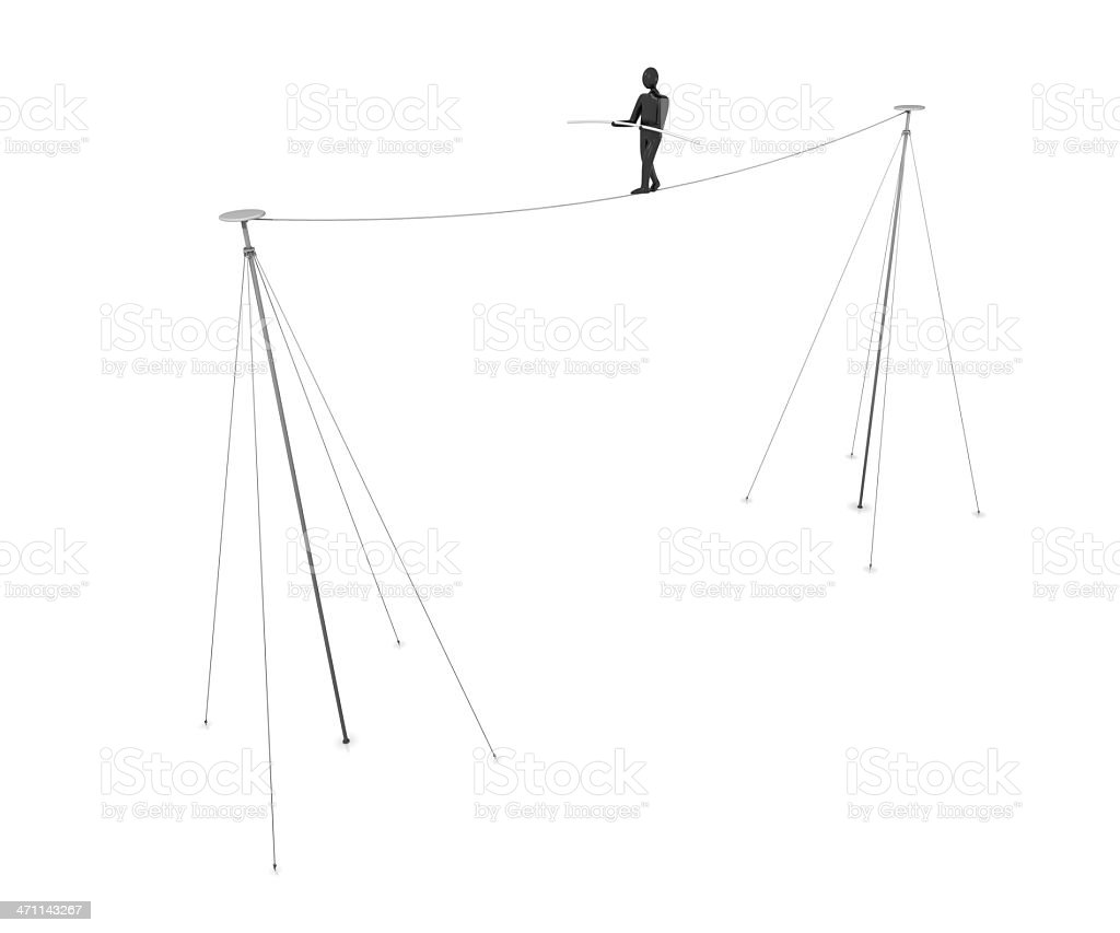 Tightrope Walker royalty-free stock photo