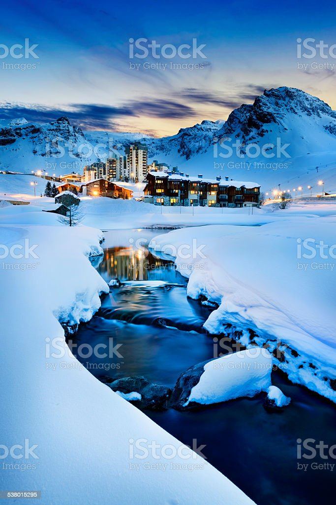 Tignes, alps, France stock photo
