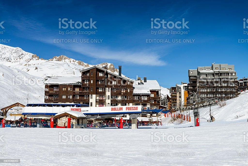 Tignes, alps, France stock photo