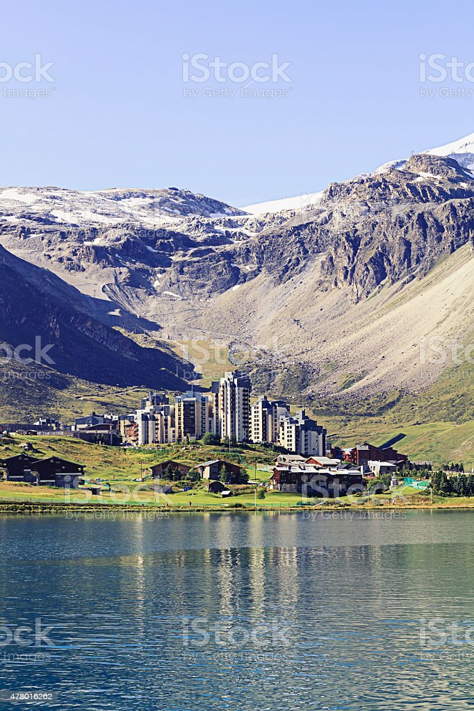 Tignes in summer stock photo