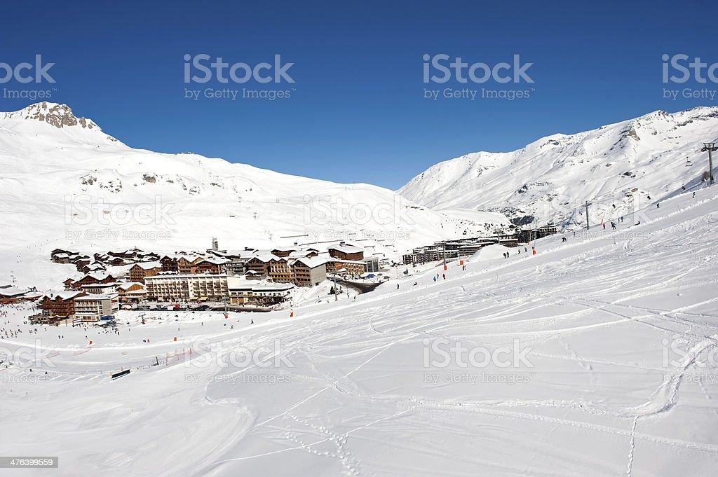 Tignes ski resort stock photo