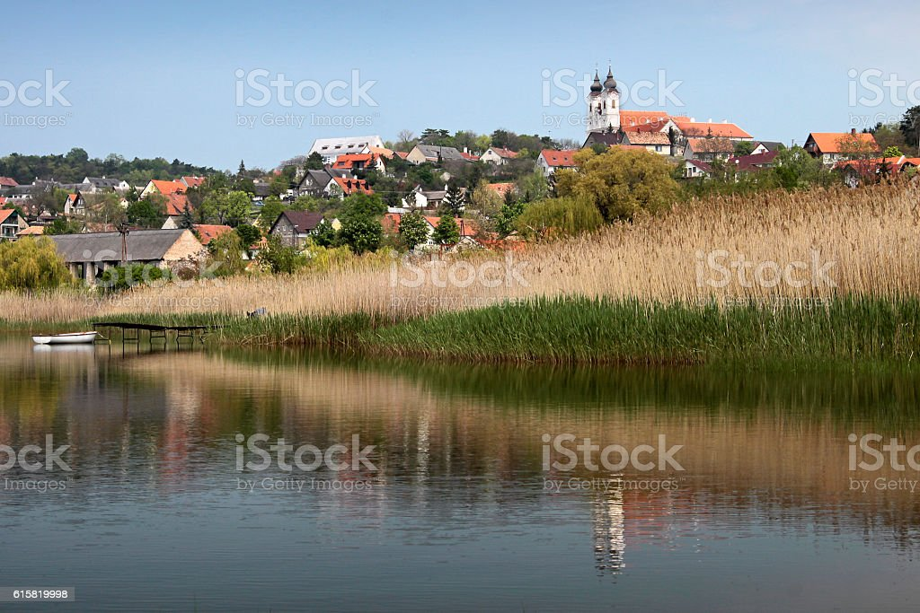 Tihany at Lake Balaton stock photo