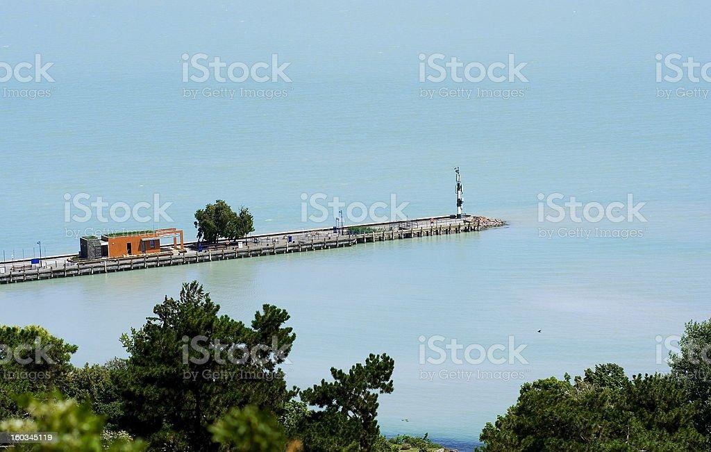 Tihany Bay stock photo