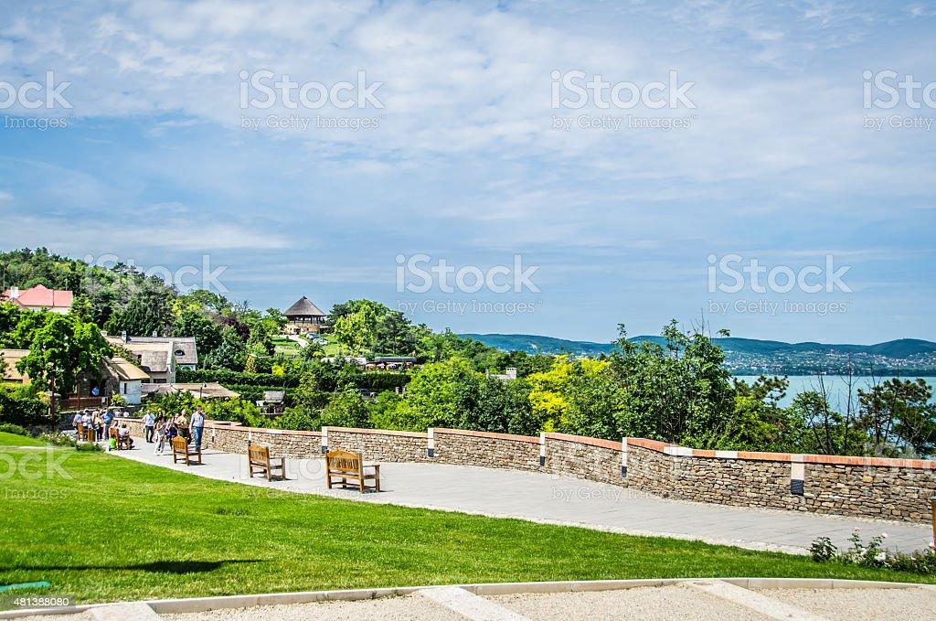 Tihany Promenade stock photo