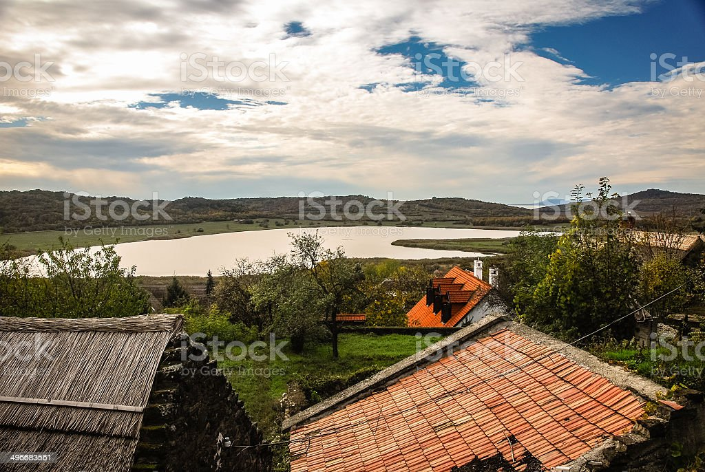 Tihanyi Bels?-t? - Tihany lake stock photo