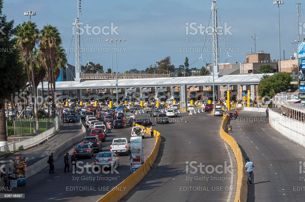 Tijuana border crossing stock photo
