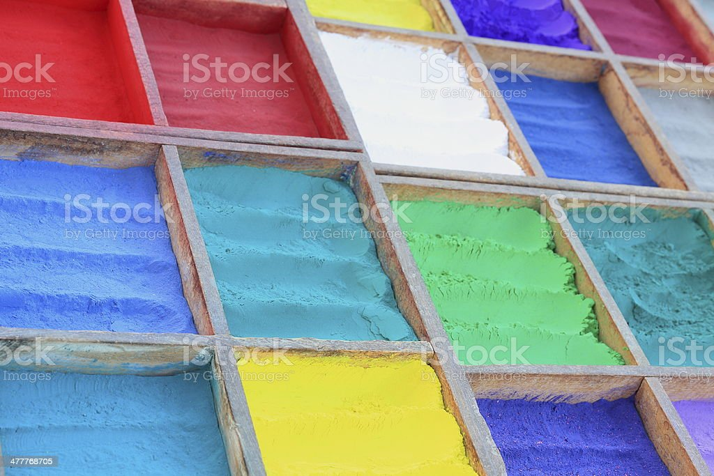 Tika powder sellin stall. Pashupatinath-Kathmandu-Nepal. 0302 stock photo