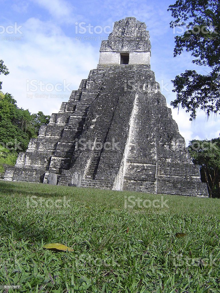 Tikal royalty-free stock photo