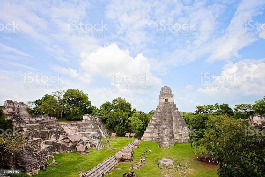Tikal Pyramids stock photo