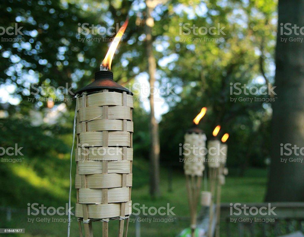 Tiki Burning stock photo