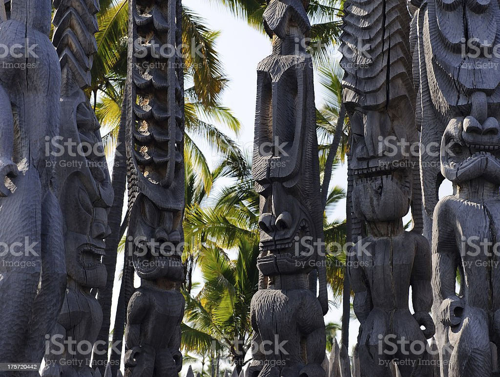 Tiki Guardians royalty-free stock photo