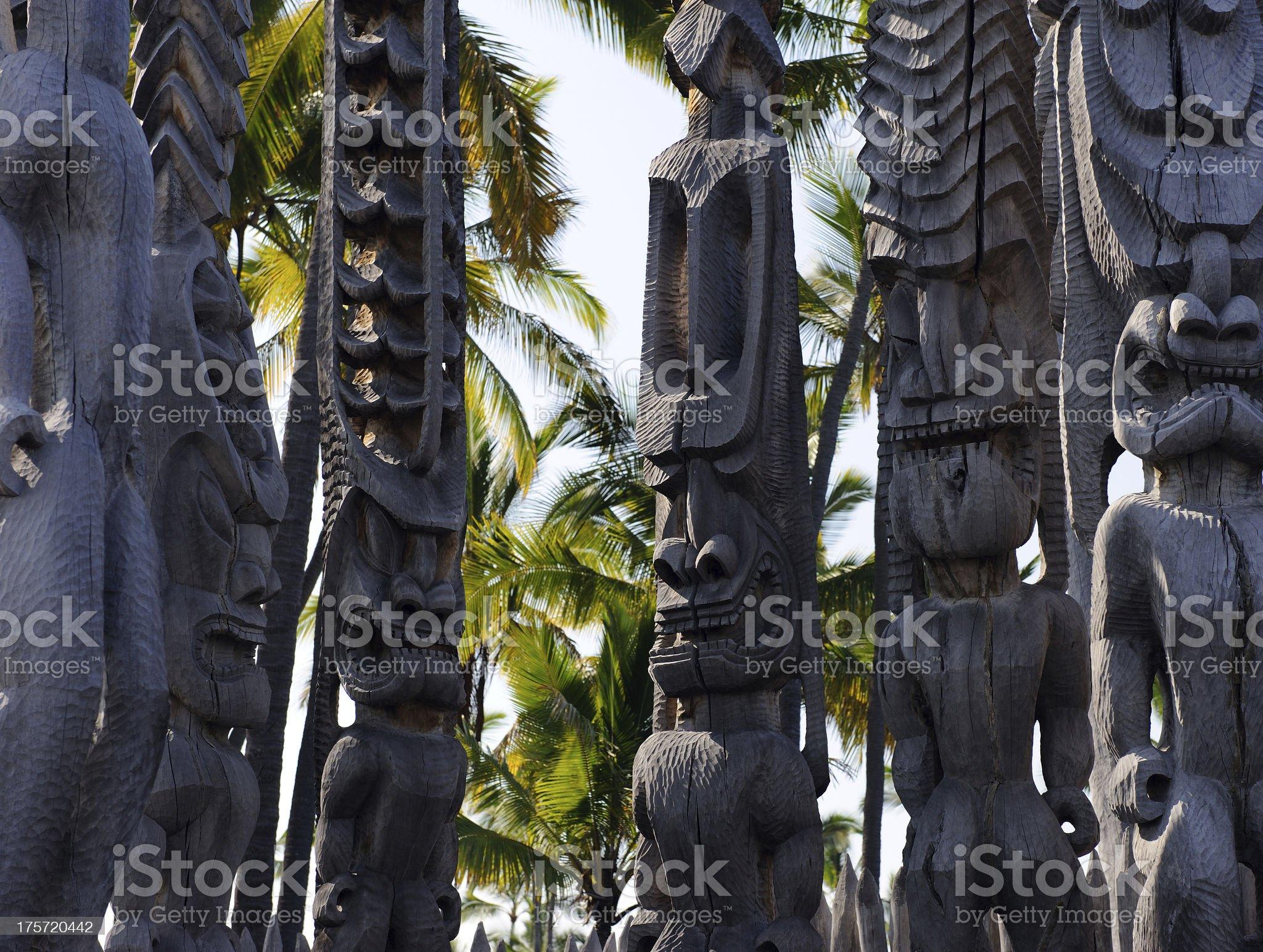 Tiki Guardians royalty-free stock photo