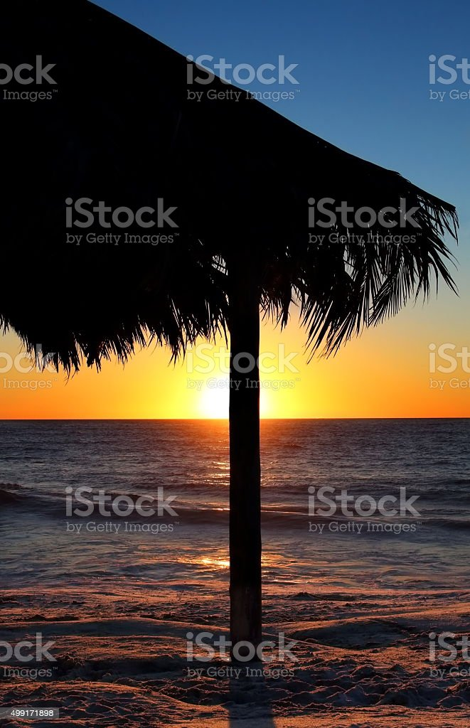 Tiki hut stock photo