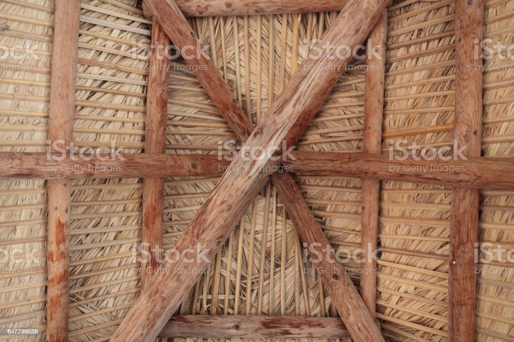 Tiki hut. stock photo