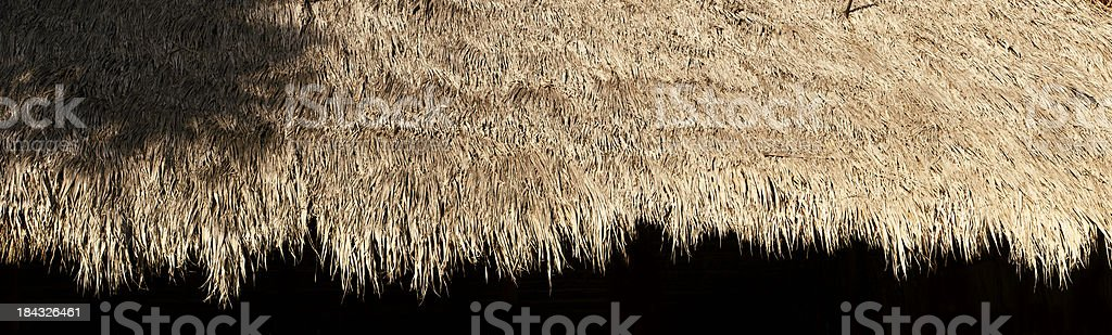 Tiki Hut Trim stock photo