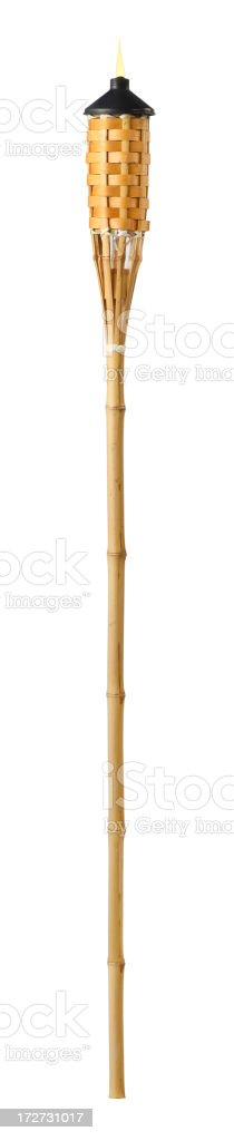 Tiki Torch stock photo