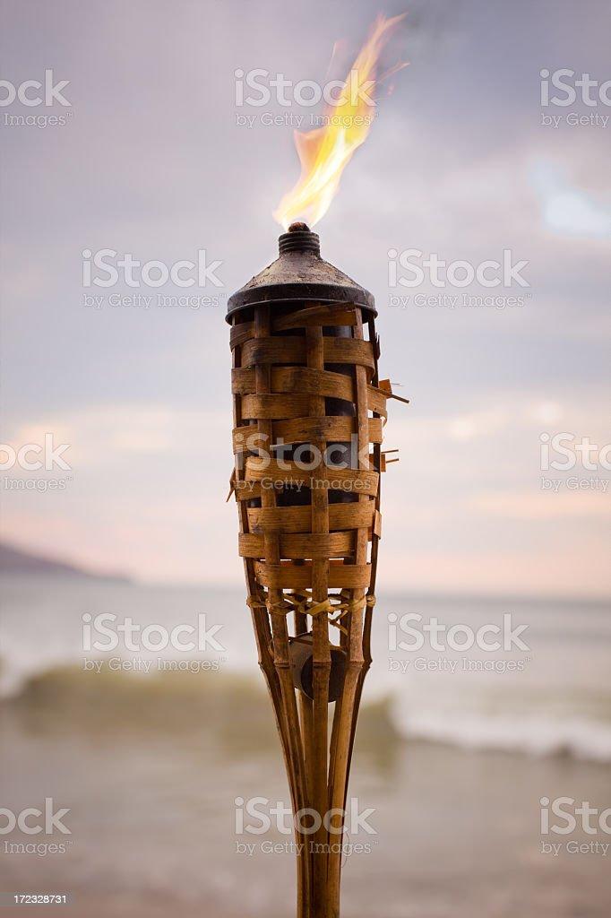 Tikki Torch stock photo