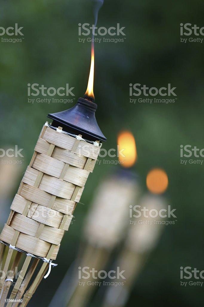 Tikki Torches stock photo