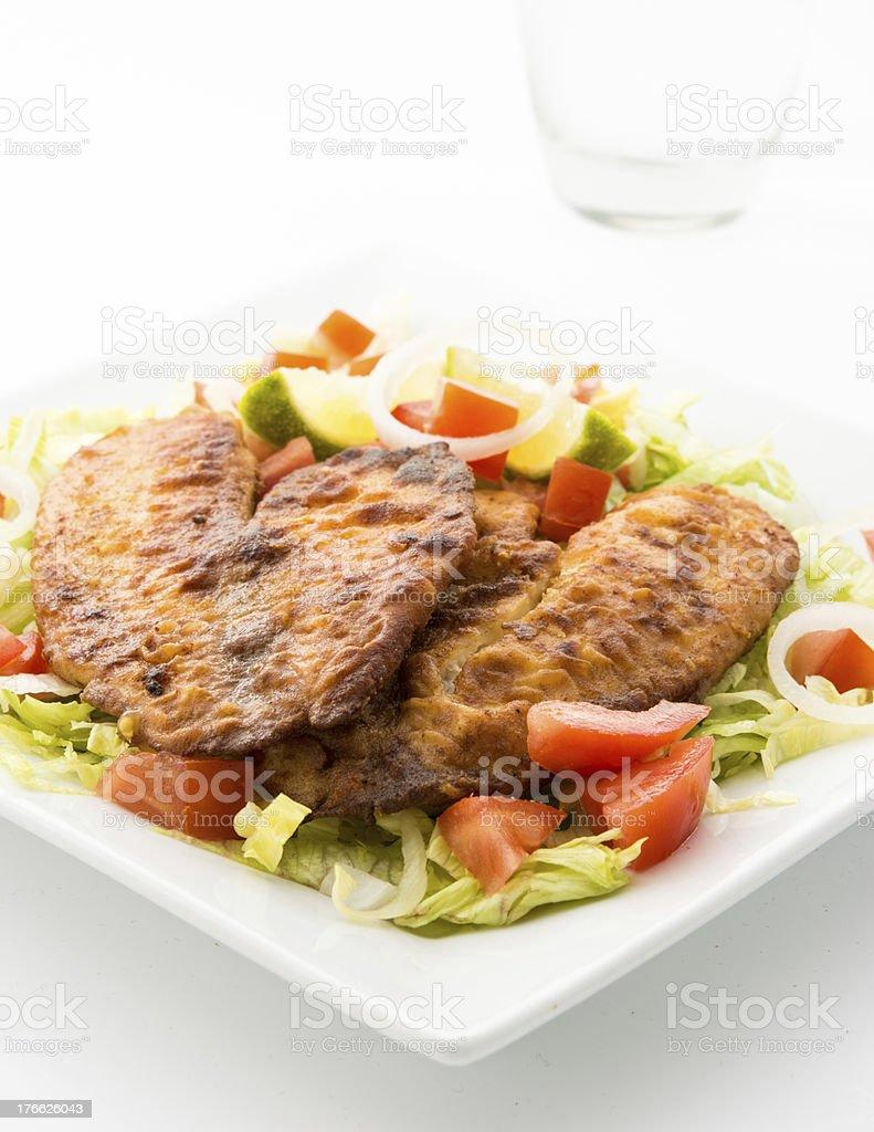 Tilapia and Salad royalty-free stock photo
