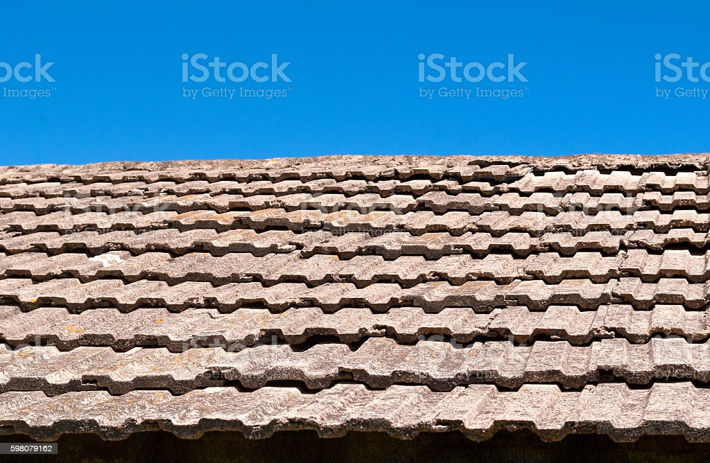 tile against the sky stock photo