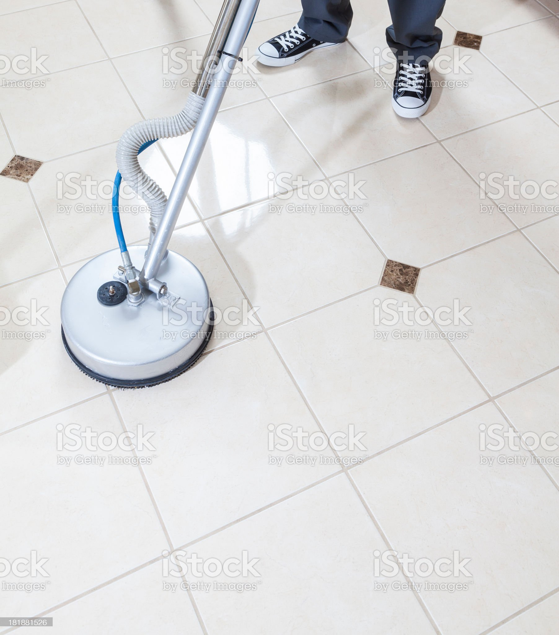 Tile and Grout Cleaning royalty-free stock photo
