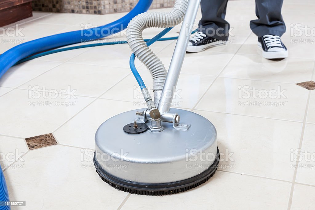 Tile and Grout Cleaning stock photo