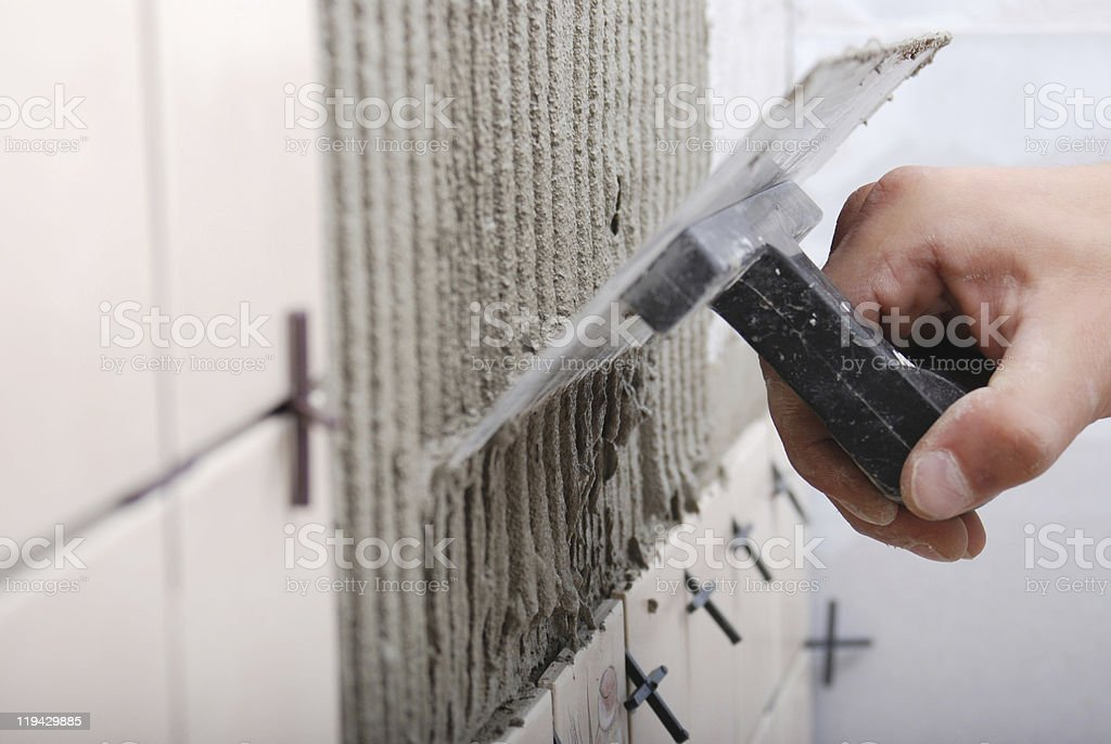 Tile and Mortar royalty-free stock photo