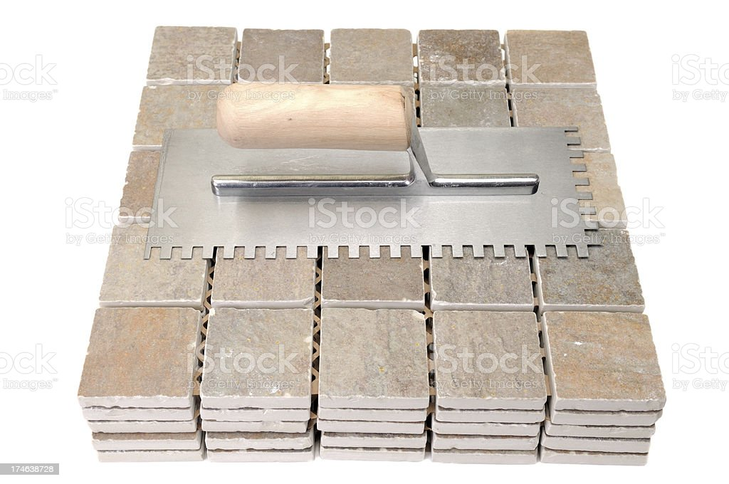 Tile And Trowel royalty-free stock photo