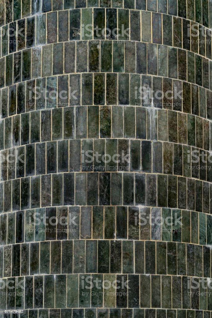 Tile cladding, Swedagon Phaya Pagoda, Yangon, Myanmar stock photo