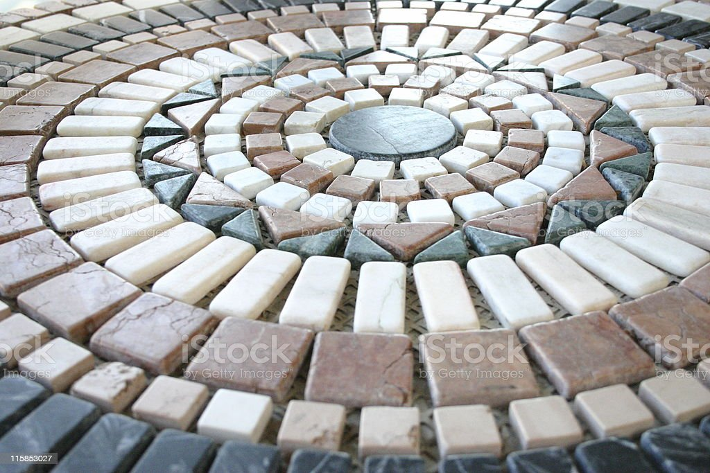 Tile composition royalty-free stock photo