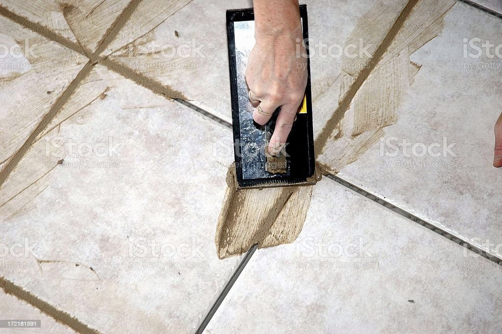 Tile Grout royalty-free stock photo
