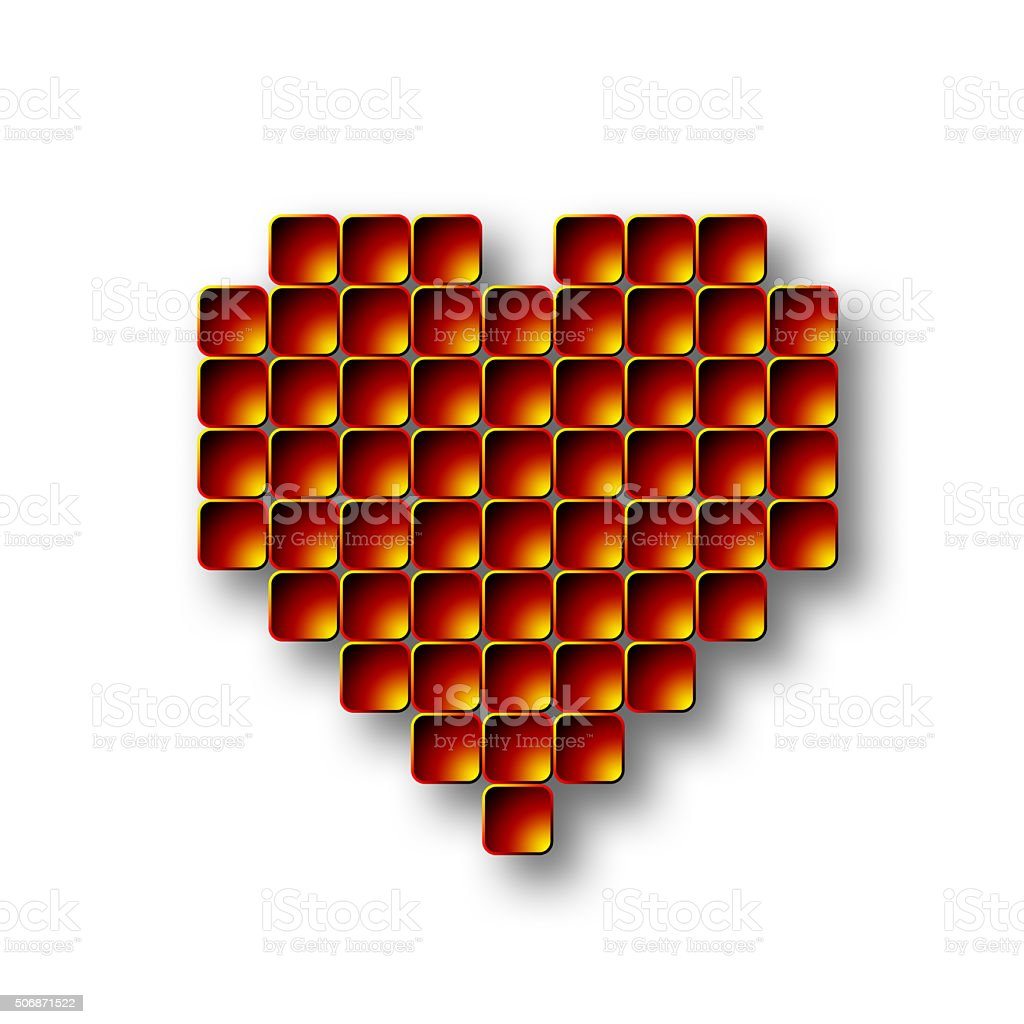 Tile Heart stock photo