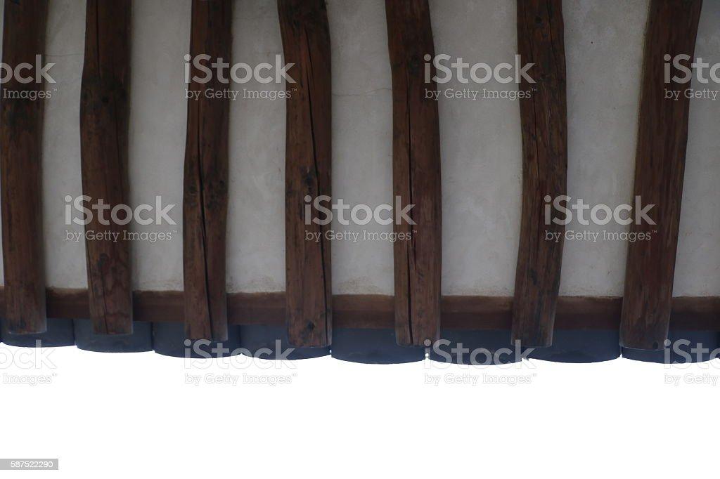 Tile house/Ceiling tiles stock photo
