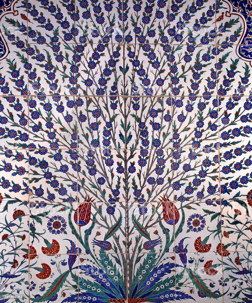 tile iznik (ottoman) stock photo