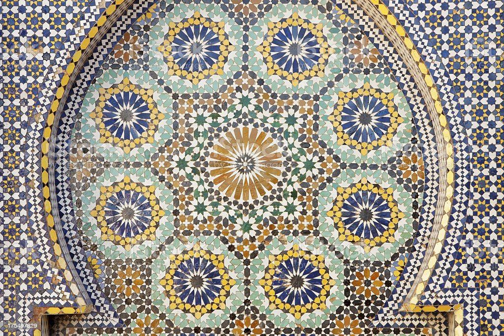 Tile Mosaic, Morocco royalty-free stock photo