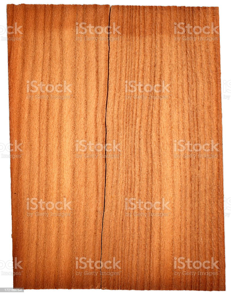Tile of split wood with white background stock photo