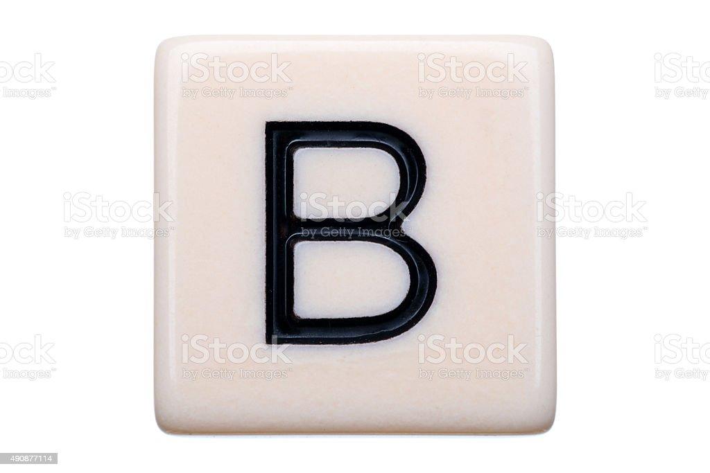 B Tile stock photo