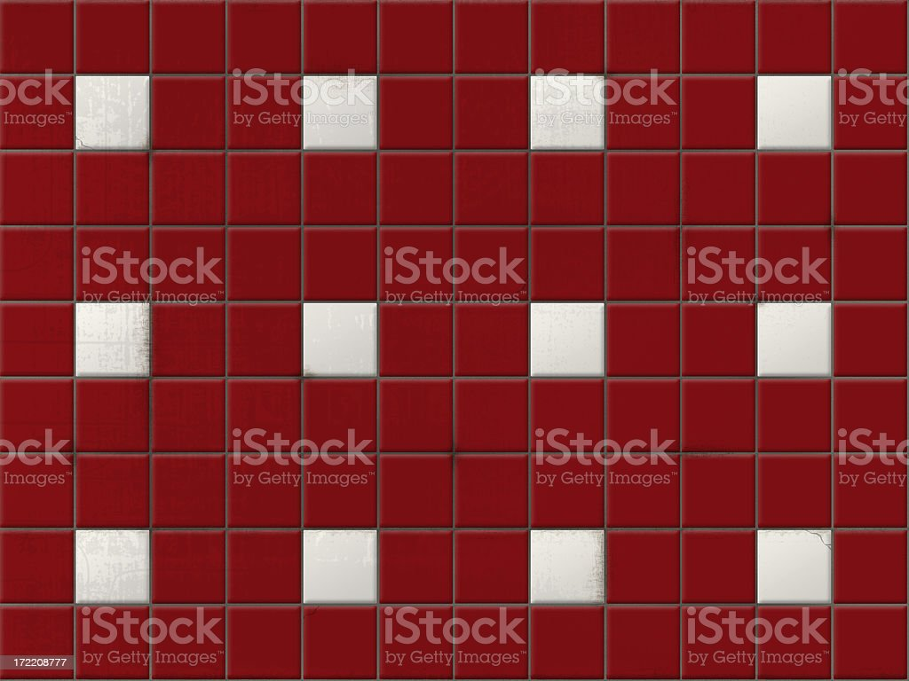 tile red clean (circa 1950s) stock photo