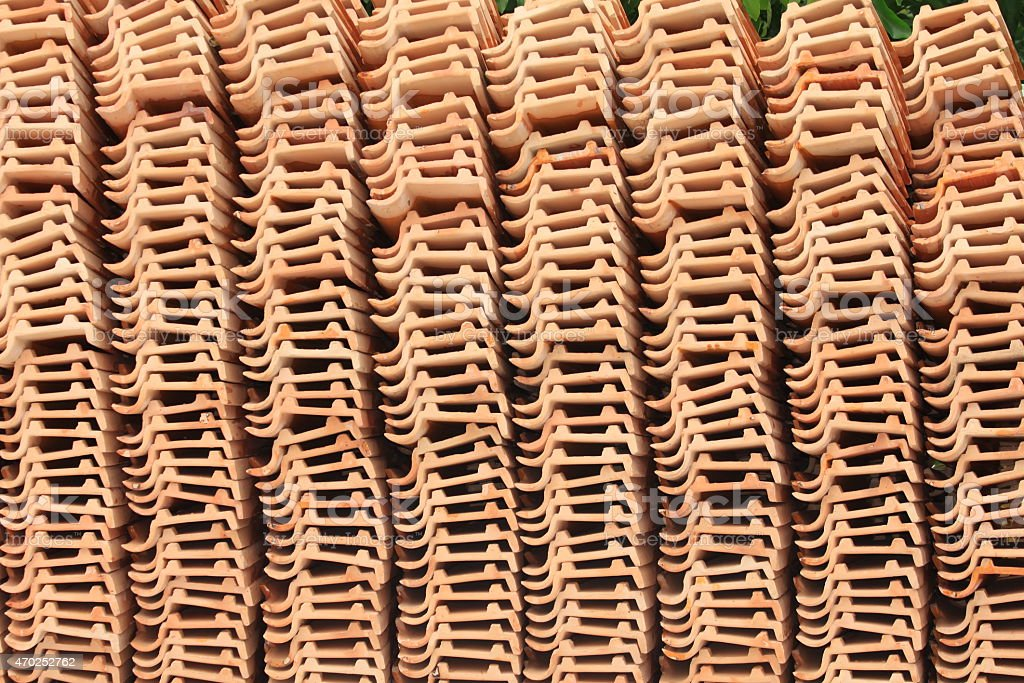 Tile roof for the construction stock photo