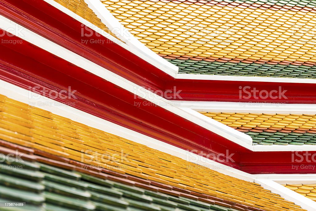Tile Roof in Bangkok royalty-free stock photo