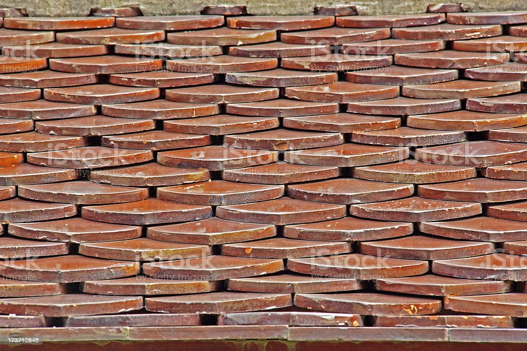 Tile roof. royalty-free stock photo